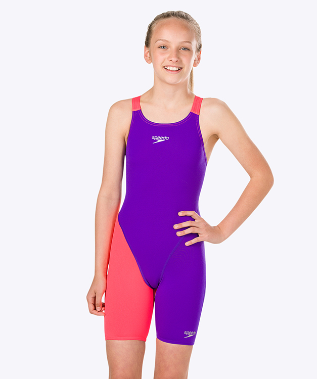 Speedo Fastskin Openback Junior Kneeskin paars/rood END