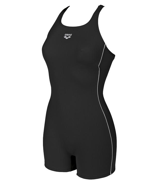 Badpak Met Dichte Rug.De Finding Is Een Legsuit Zwempak Met Korte Pijpjes Voor De Training