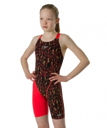 Fastskin Openback Junior Kneeskin black/lave red END