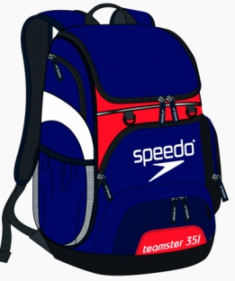Teamster Backpack Navy Red White