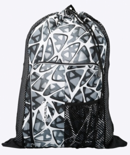 Deluxe Ventilator Mesh Bag Black White