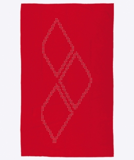 Halo Microfiber Towel Red/White