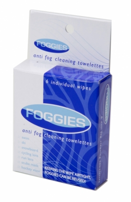 FOGGIES, anti fog cleaning towelettes