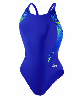 Lane 4 Blue Drops Support Swimsuit
