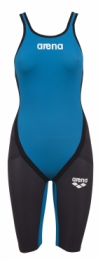 Powerskin Carbon Flex Full Body Short Leg Open Dark-Grey/Cyan
