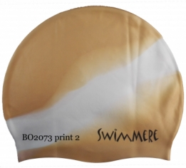 SwimMere Print cap Multi Diagonaal