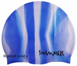 SwimMere Print cap Stripes
