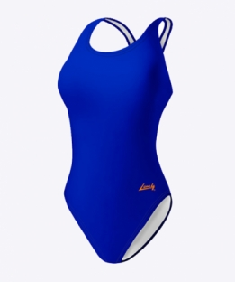 Swimsuit V-back Poison Blue
