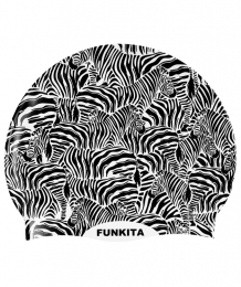 Zebra Crossing Swimming Cap
